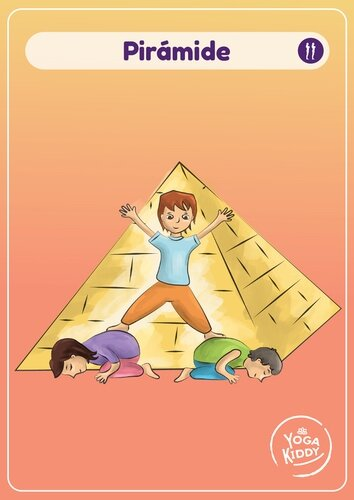 Láminas tamaño grande cartas yoga niños infantil gratis imprimir yogakiddy piramide