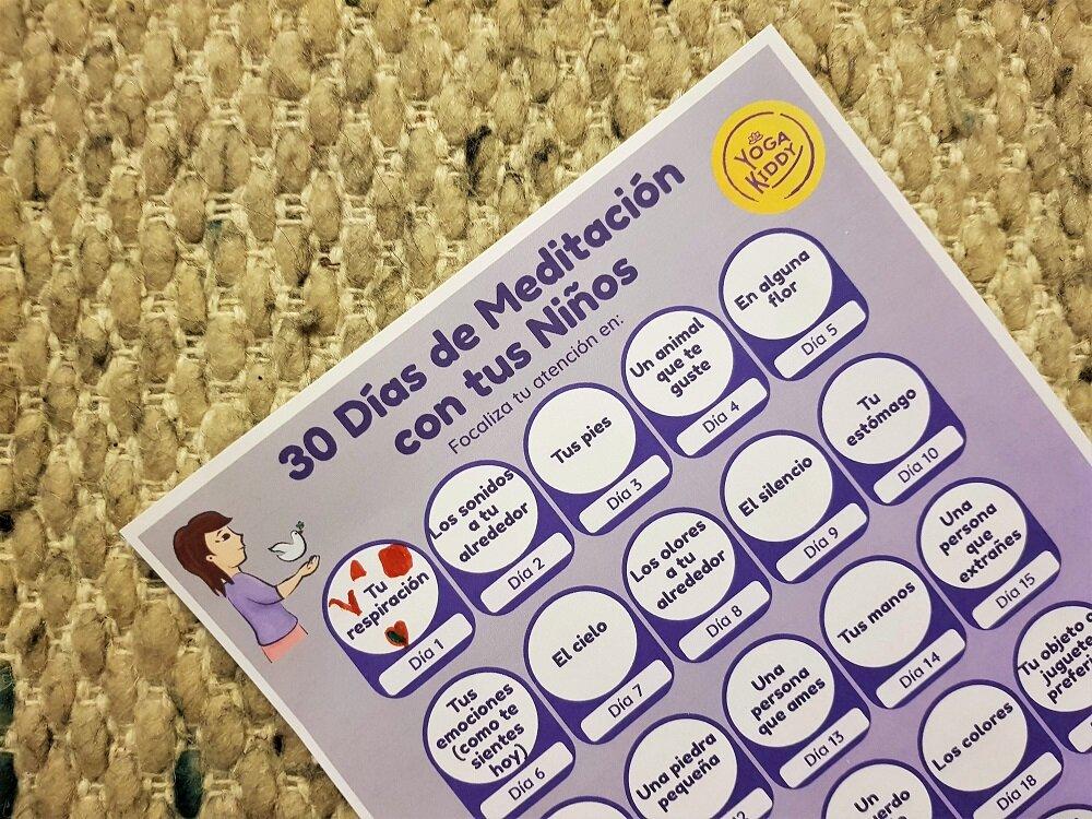 calendario 30 dias meditacion