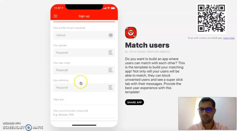 Tinder-like app
