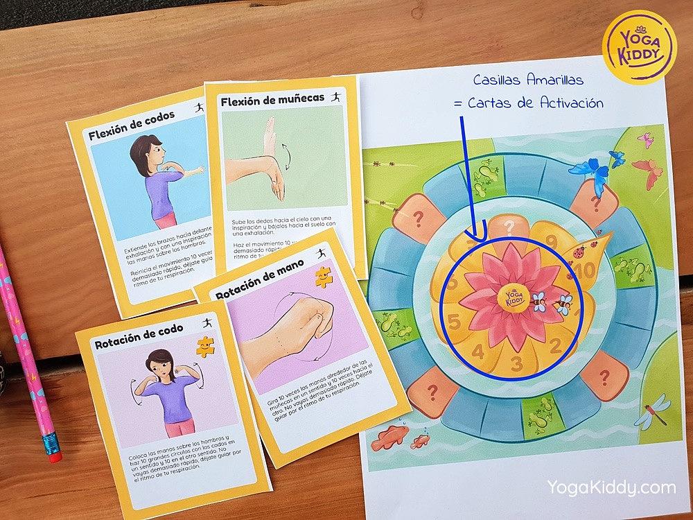 juego yoga - casilla de activación