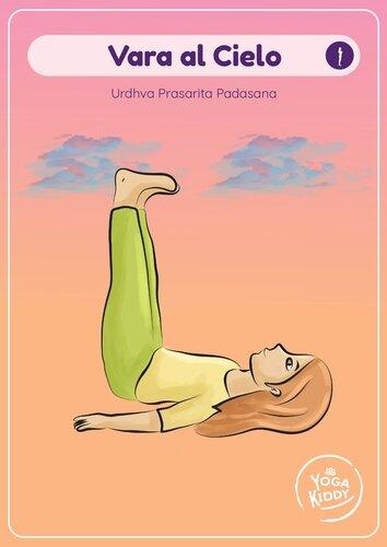 Láminas tamaño grande cartas yoga niños infantil gratis imprimir yogakiddy vara al cielo