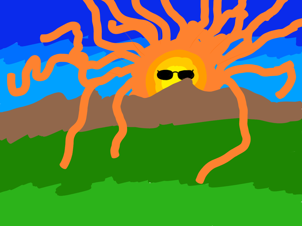 Cthulhu Sunset. Not how I was expecting this to turn out.