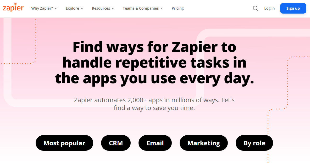 Automate endless boring tasks in Zapier.