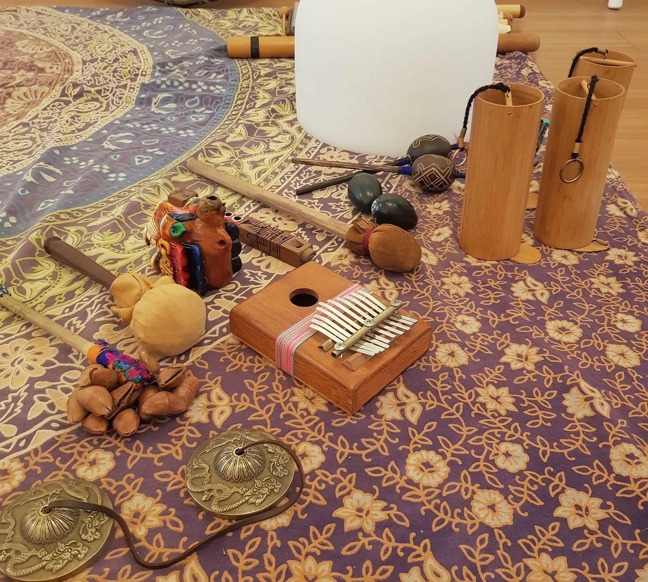 instrumentos musicales yoga infantil sonotera