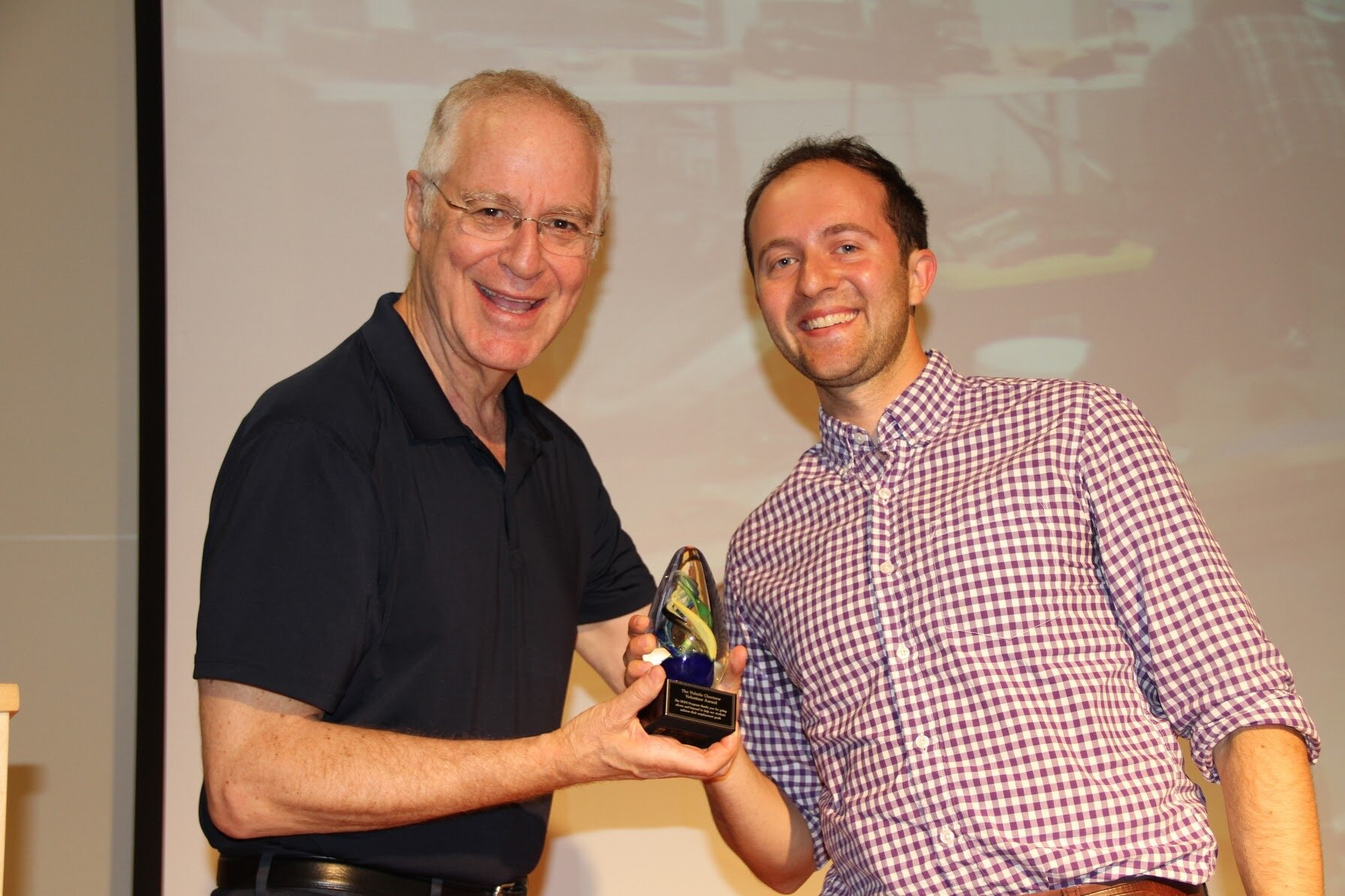Winning an award from Ron Chernow