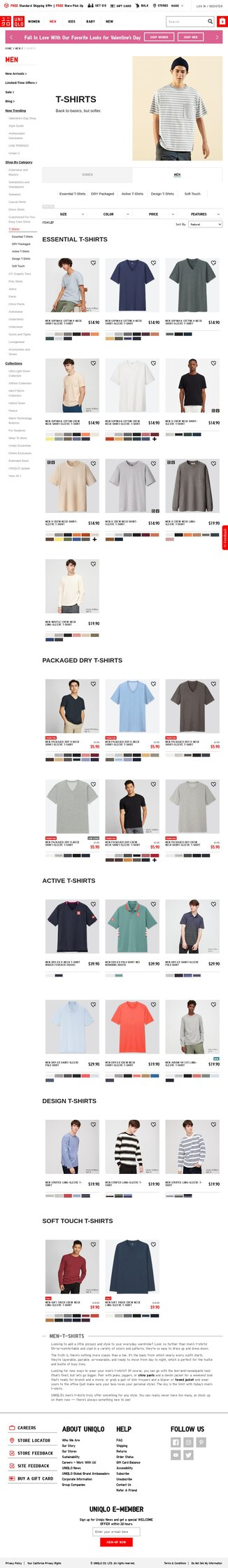 The Uniqlo Men's T-shirt Category