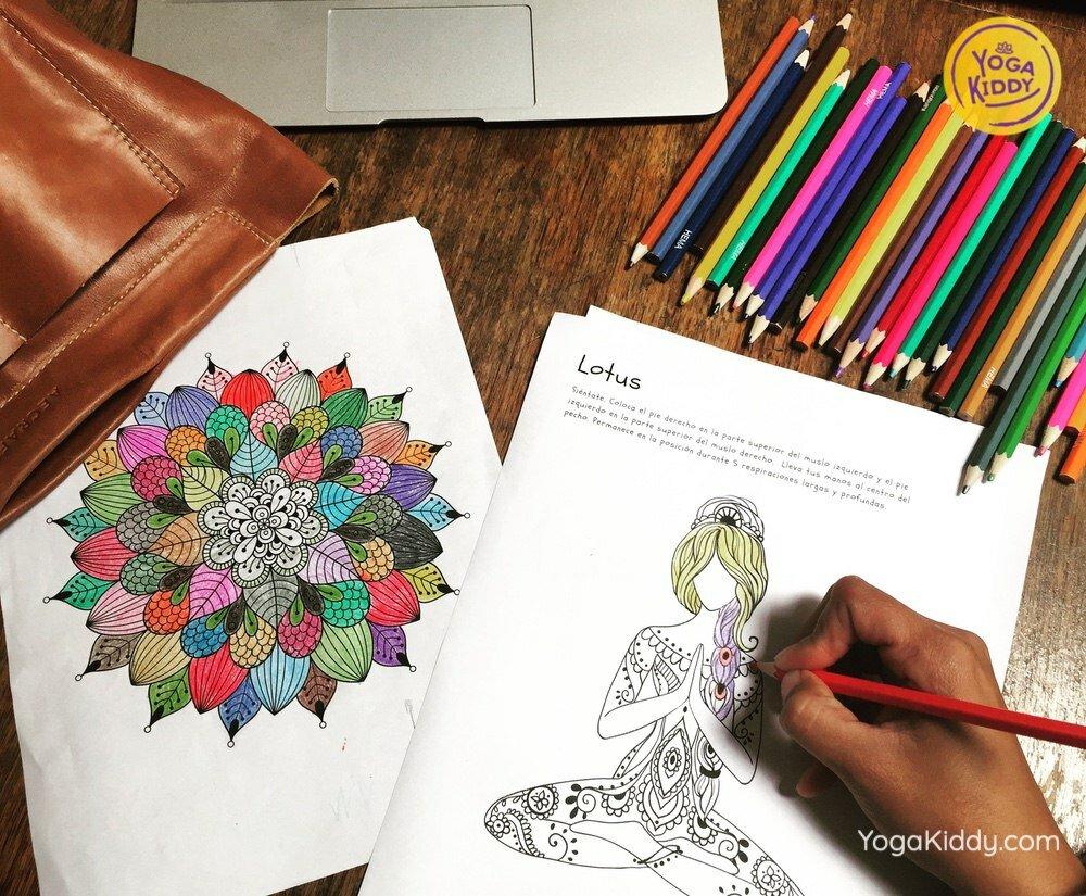 mandala colorear gratis postura yoga yogakiddy 5