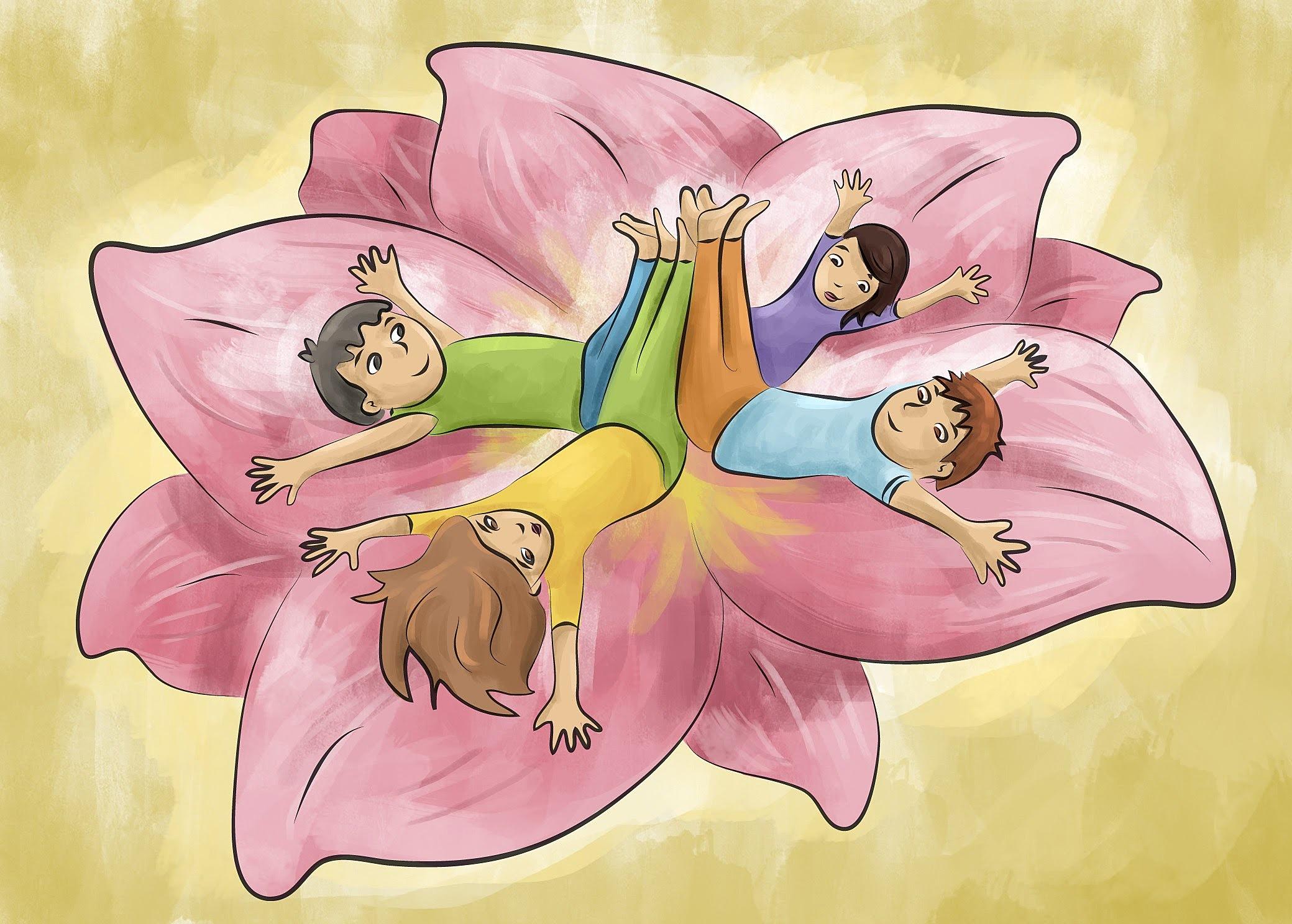 trabajo colaborativo yoga infantil